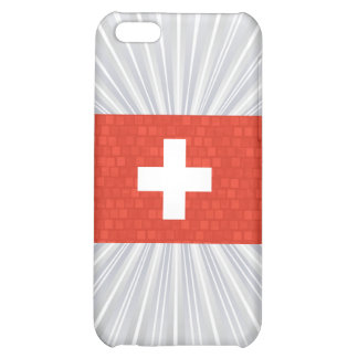 Modern Pern Swiss Flag Cover For iPhone 5C