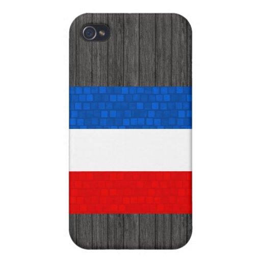 Modern Pern Yugoslavian Flag iPhone 4 Cases