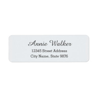 Modern Personal Address Label - Clear Snow White at Zazzle