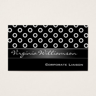 Modern Personal Black Business Cards