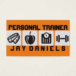 Modern Personal Trainer Fitness Business Card