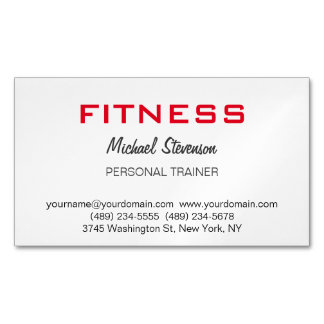 Modern Personal Trainer Fitness Magnetic Business Card