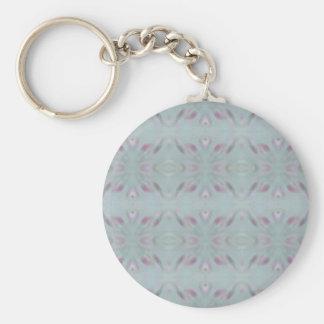Modern personalizable gray pattern keychain