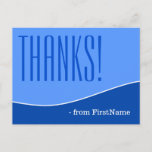 """[ Thumbnail: Modern, Personalized and Chic """"Thanks!"""" Postcard ]"""