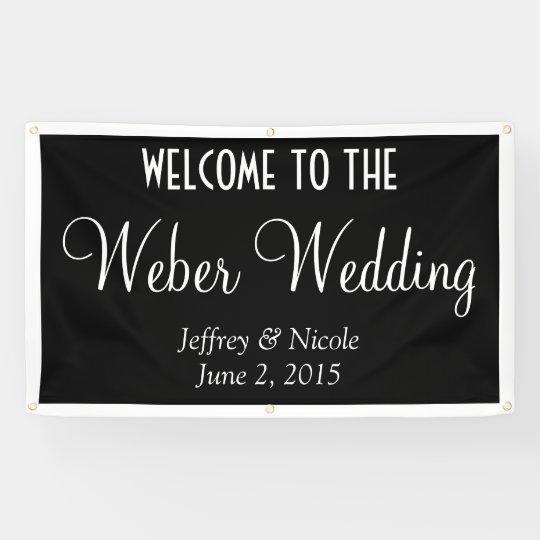 Modern Personalized Custom Wedding Banner