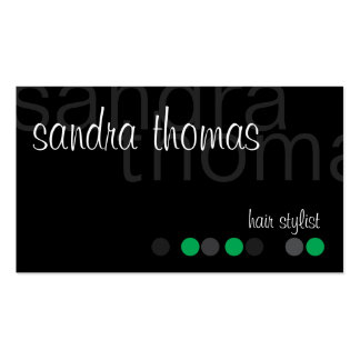 Modern Personalized - Green Business Card