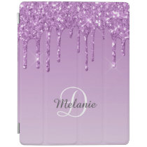 Modern Personalized Light Purple Sparkle Glitter iPad Smart Cover