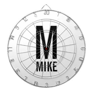 Modern Personalized Monogram and Name Dart Board
