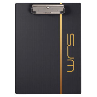 Modern Personalized Monogram Clipboard