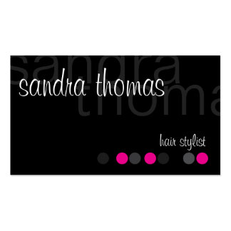 Modern Personalized - Pink Business Card