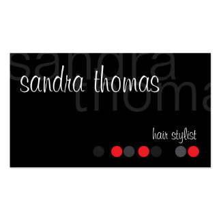 Modern Personalized - Red Business Card