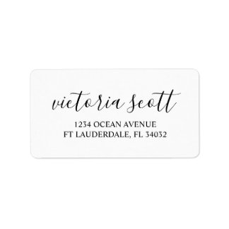 Modern Personalized Return Address Labels