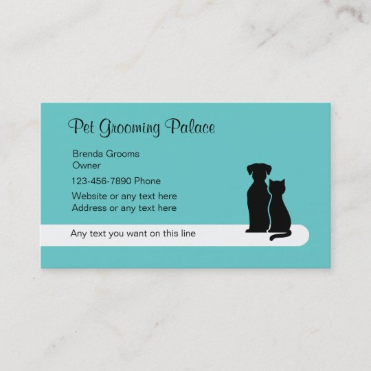 modern pet grooming business cards - Dog Grooming Business Cards