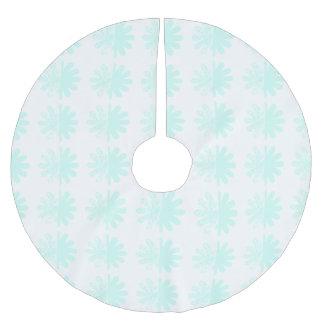 Modern Petal Snowflake base Pattern Brushed Polyester Tree Skirt