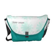 Modern Petal Snowflake base Pattern Messenger Bag