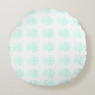 Modern Petal Snowflake base Pattern Round Pillow