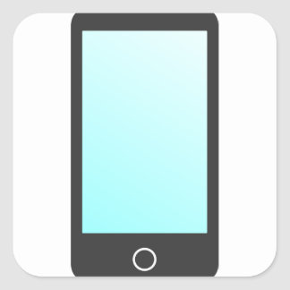 Modern Phone Square Sticker