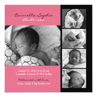 Modern Photo Birth Announcement
