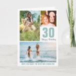 """Modern Photo Birthday Card Any Age 