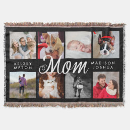 Modern Photo Blanket for Mom | Black and White