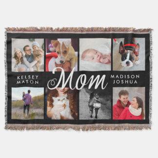 Modern Photo Blanket for Mom | Black and White