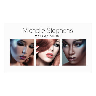Modern Photo Card for Makeup Artists, Stylists Double-Sided Standard Business Cards (Pack Of 100)