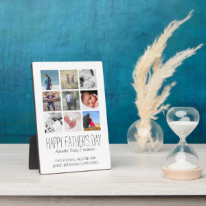 Modern Photo Collage Happy Father's Day Plaque