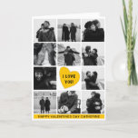 Modern Photo Collage 'I LOVE YOU' | Valentines Day Holiday Card