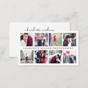 Photo collage business cards zazzle modern photo collage photographer business card colourmoves