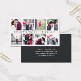 Photo collage business cards templates zazzle modern photo collage photographer business card colourmoves