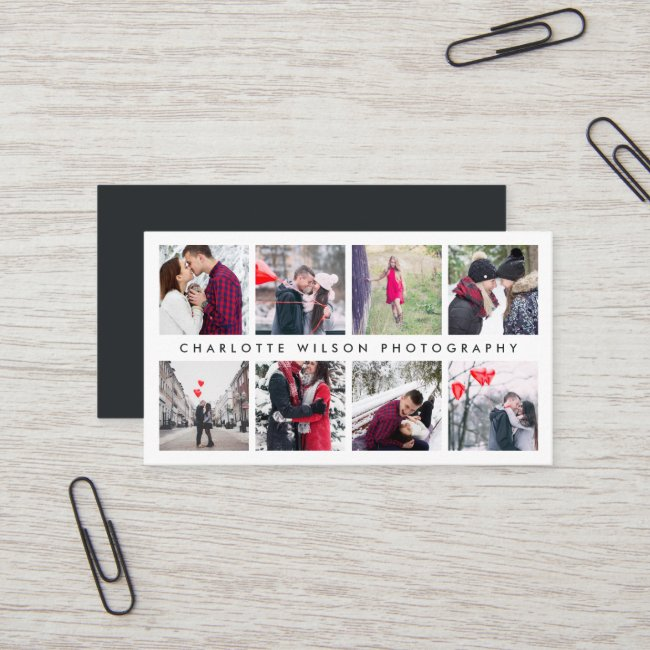 Modern Photo Collage   Photographer Business Card