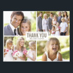 "Modern Photo Collage Wedding Thank You Postcard<br><div class=""desc"">Modern Photo Collage Wedding Thank You Postcard</div>"