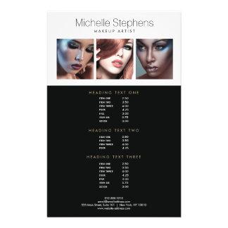Modern Photo Flyer Price List for Makeup Artists