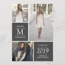 Modern photo graduation announcement