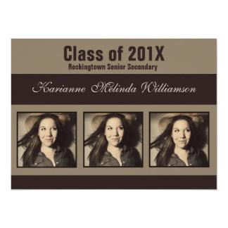 """Modern Photo Graduation Announcement or Invitation 5.5"""" X 7.5"""" Invitation Card"""