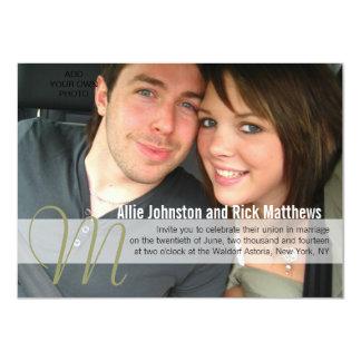 Modern Photo Monogram Wedding Invitations