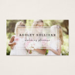 "Modern Photo Overlay | Photography Business Card<br><div class=""desc"">Elegant business card featuring one photo template. This modern business card is perfect for weddings and photography businesses.</div>"
