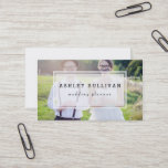 """Modern Photo Overlay   Wedding Business Card<br><div class=""""desc"""">Elegant business card featuring one photo template. This modern business card is perfect for weddings and photography businesses.</div>"""