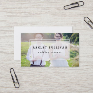 Business cards business card printing zazzle modern photo overlay wedding business card reheart Gallery