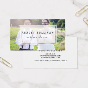 Wedding planner business cards templates zazzle modern photo overlay wedding business card cheaphphosting Gallery