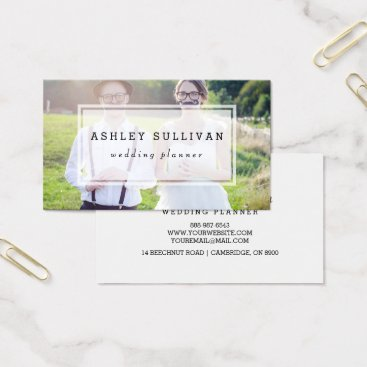 Professional Business Modern Photo Overlay | Wedding Business Card