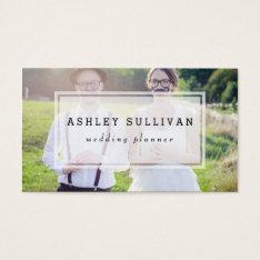 Modern Photo Overlay | Wedding Business Card at Zazzle
