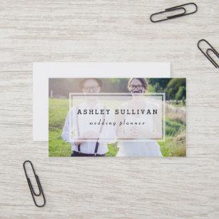 Photo business cards zazzle modern photo overlay wedding business card colourmoves