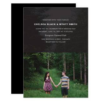 Modern Photo Overlay Wedding Invitation