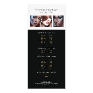 Modern Photo Price List Menu for Makeup Artists