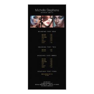 Modern Photo Price List Menu for Makeup Artists II