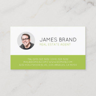modern photo real estate business card - Real Estate Agent Business Cards