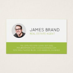 Modern Photo Real Estate Business Card at Zazzle