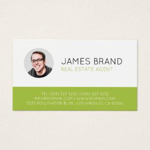 Motivational speaker business cards templates zazzle modern photo real estate business card colourmoves