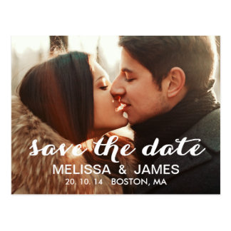 Modern Photo Save the Date Announcement Post Card